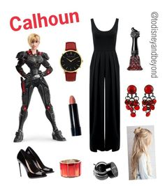 """Sergeant Calhoun from ""Wreck-It Ralph"" (2012)"" by todisneyandbeyond ❤ liked on Polyvore featuring Nadia Tarr, Larsson & Jennings, Paco Rabanne, Oscar de la Renta, Anna Sui, NYX and jane"