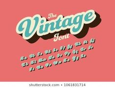 Vector of stylized vintage font and alphabet Calligraphy Fonts, Typography Fonts, Typography Design, Cursive Fonts, Handwriting Fonts, Letras Cool, Vintage Typography, Vintage Fonts Free, Graphics Vintage