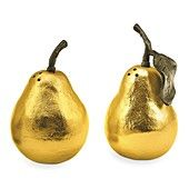 Shop PEAR SALT AND PEPPER from Michael Aram at Horchow, where you'll find new lower shipping on hundreds of home furnishings and gifts. Serveware, Tableware, Pyrus, Salt And Pepper Set, Mellow Yellow, Salt Pepper Shakers, Metal Working, Best Gifts, Stuffed Peppers