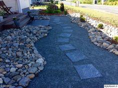 Kuvahaun tulos haulle kivipiha etupiha hortensia Sidewalk, Garden, Garten, Side Walkway, Lawn And Garden, Walkway, Gardens, Gardening, Outdoor