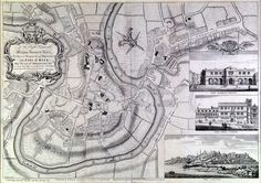 Rocque's Map of Shrewsbury, 1746. Engraving. Artist: J. Rocque. Shrewsbury Museums Service
