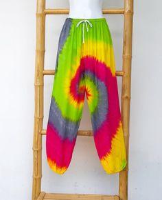 Colorful Tie Dye Pants Reggae Pants Music Festival Pants | Etsy Hippie Pants, Boho Pants, Hippie Boho, Tie Dye Pants, Tie Dye Skirt, Custom Checks, Purple Skirt, Gypsy Skirt, Reggae