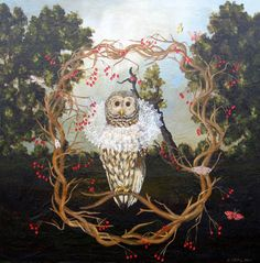 Owl with Collar by anne siems
