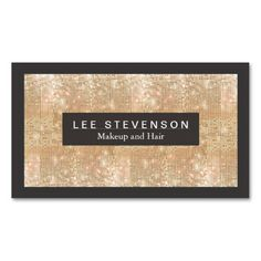 Gold Sparkly FAUX Sequins Makeup Artist Salon Business Card. This is a fully customizable business card and available on several paper types for your needs. You can upload your own image or use the image as is. Just click this template to get started!