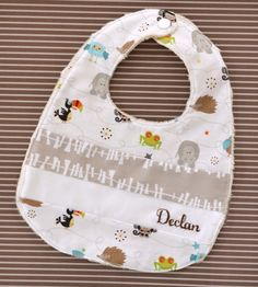 Personalised patchwork baby bib 'Life in the by DownGrapevineLane, $20.00