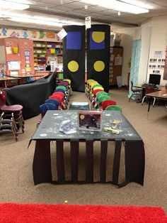 cute classroom display for Polar Express day