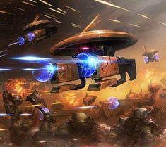 Warhammer 40000,warhammer40000, warhammer40k, warhammer 40k, ваха, сорокотысячник,фэндомы,Tau,Orks,drons,Drones,Tau Empire,Tau, Тау,Fire warrior,Gun Drone