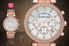 Buy Ladies' Michael Kors Parker Watch UK deal for just instead of (from Gray Kingdom) for a Michael Kors watch - save BUY NOW for just Cool Watches, Watches For Men, Women's Watches, Hugo Boss Watches, Best Shopping Sites, Shopping Deals, Uk Deals, Rose Gold Jewelry, Quartz Stone