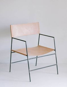 Leather lounge chair by Natalie Davis