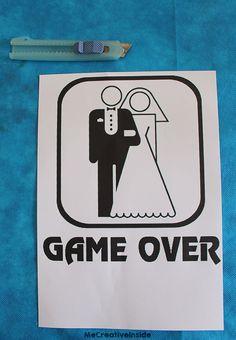 diy tutorial Maglia Sposa 'Game Over' fai da te per addio al nubilato PASSO 1