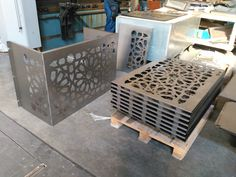 Laser Cut Screens, Laser Cut Panels, Door Gate Design, Fence Design, Cnc Cutting Design, Air Conditioner Cover, Balcony Railing Design, Wooden Gazebo, Sheet Metal Fabrication