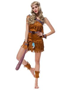 Native American Indian Jungle Queen Womens Halloween Costume