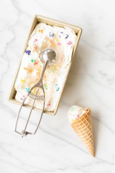 How to make bubble gum ice cream, a quintessential childhood favorite dessert! This no churn ice cream recipe uses just 4 ingredients! #homemadeicecream #dessert #recipe #bubblegum
