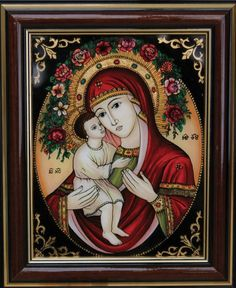 TOTUL DESPRE ICOANE: ICOANE MAICA DOMNULUI 8 Mosaic Glass, Glass Art, Cool Jesus, Art Nouveau, Jesus Art, Madonna And Child, Blessed Virgin Mary, Blessed Mother, Mother Mary