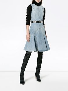 Alexander McQueen джинсовое платье без рукавов