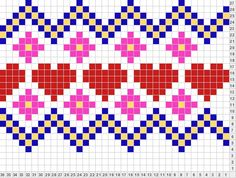 Beginning Cross Stitch Embroidery Tips - Embroidery Patterns Fair Isle Knitting Patterns, Knitting Charts, Knitting Stitches, Knitting Designs, Free Knitting, Cross Stitch Bookmarks, Cross Stitch Borders, Cross Stitch Embroidery, Cross Stitch Patterns