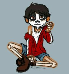 Miguel from Coco Cartoon Movie Characters, Disney Pixar Movies, Cartoon Shows, Disney And Dreamworks, Disney Characters, Arte Disney, Disney Fan Art, Disney Magic, Punk Disney