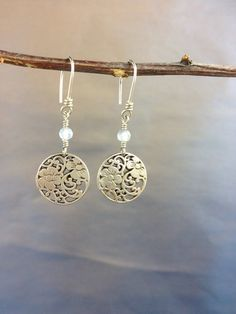 Sterling Silver Floral Motif Earring with by MKSterlingDesign, $26.00  :D prettyyyy