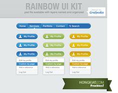 Rainbow UI Kit (PSD)