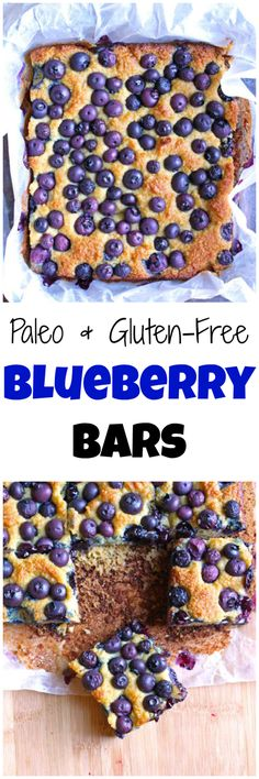 Paleo Blueberry Bars | Need a quick grab-and-go breakfast? Or a simple mid-morning snack? These breakfast bars are made with all clean eating ingredients so pin now to make later this week!