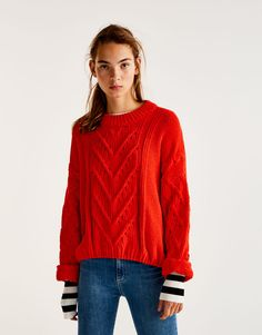 Pull maille torsadée - Pull - Maille - Vêtements - Femme - PULL&BEAR France