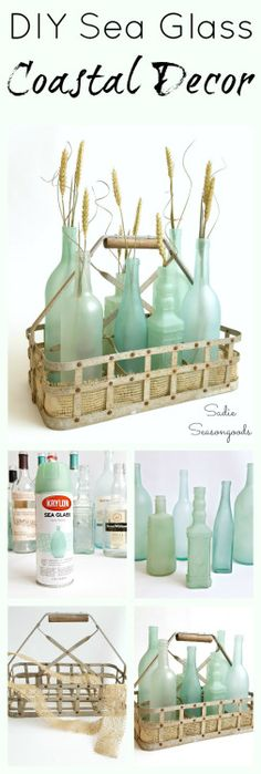 DIY Sea Glass BottlesThese are absolutely the prettiest DIY sea...
