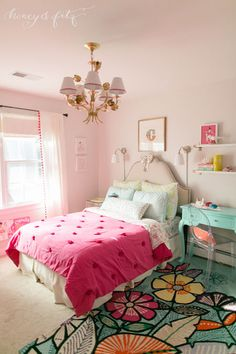 Project Nursery - A-Mermaid-Inspired-Big-Girl-Room-by-Honey-and-Fitz-Full2