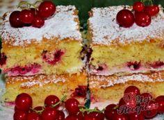 Recept Rybízová bublanina s tvarohem Sponge Cake, Vanilla Cake, Cheesecake, Food And Drink, Sweets, Cooking, Desserts, Kuchen, Kitchen
