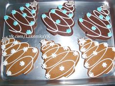 Christmas Tree Cookies - I did these in chocolate and then also in gingerbread(which was my fav) (christmas desserts decorations) Christmas Biscuits, Christmas Tree Cookies, Christmas Sweets, Christmas Gingerbread, Christmas Cooking, Noel Christmas, Holiday Cookies, Snowflake Cookies, Santa Cookies