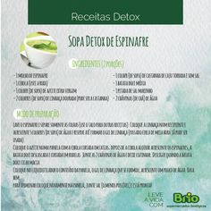 Brio Supermercados Biológicos - sopa de espinafre detox