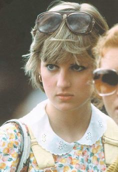July 12, 1981: Lady Diana Spencer (with Sarah Ferguson) at a polo match at the Cowdray Park Polo Club in Midhurst, West Sussex, England