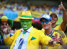 And this Brazilian fan channeled his inner-Jim Carey. -  #fifa2014 #worldcup #worldcup2014 #fifa #fans #fifafans #worldcupfans #funny #lol #brazil