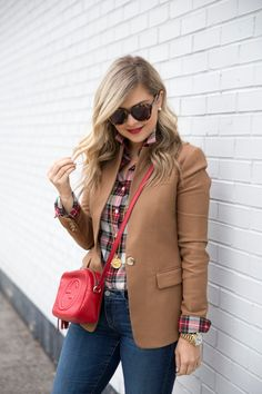 16 these outfits prove that a beige blazer is a must haves 12 Blazer Outfits For Women, Blazers For Women, Fall Outfits, Casual Outfits, Red Blazer Outfit, Ladies Blazers, Women Blazer, Emo Outfits, Blazer Dress