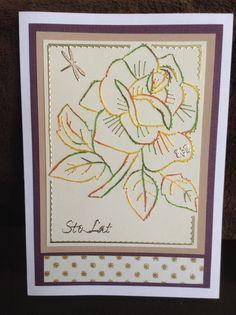 Stitched rose
