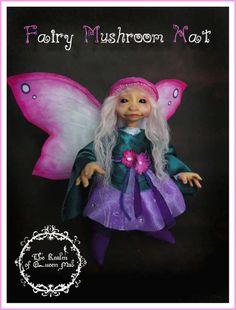 Clasic Fairies.Fairy mushroom hat. Fantasy Art doll. Troll, Faerie, Fae, Pixie, Brownie, Goblin, Ooak , Art Doll,  One of a Kind,  Fantasy, Sculpture, Wendy Froud, Brian Froud, Froud.