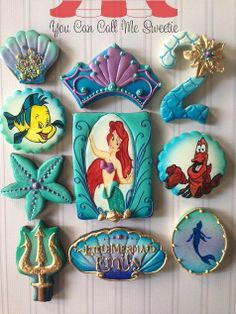 Little Mermaid Cookies by You Can Call Me Sweetie