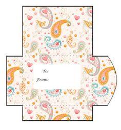 9 Print and Cut Gift Card Envelopes