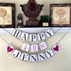 Hy 40th Birthday Banner Personalized 30th 40