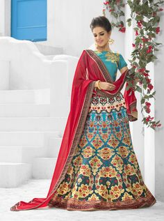 SAPTARANGI VL-107-D RATE : 3450 - SAPTARANGI VASTREENI  101-109 SERIES  DESIGNER TRADITIONAL LOOK 2IN1 STYLE PRINTED PARTY WEAR LEHENGA & GOWN STYLE INDIAN WOMEN FASHION STYLISH SUITS AT WHOLESALE PRICE AT DSTYLE ICON FASHION CONTACT: +917698955723 - DStyle Icon Fashion