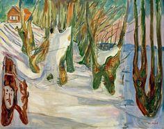Edvard Munch: Old trees (Winter, Ekely) around 1923