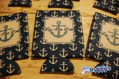 18 Personalized Koozies - Perfect for Bridesmaids, Bachelorette Parties and Boating