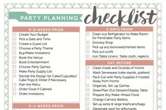 Party shop business plan checklist template house planning new sweet supply The Plan, How To Plan, Party Planning Checklist, Planning Budget, Event Planning Business, Wedding Planning, Bridal Shower Checklist, Funny Charts, Favorite Things Party