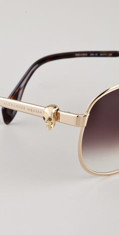 Alexander McQueen aviators-- with the skull on the side!! Must.have.these.
