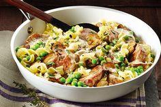 Pork Tenderloin With Mushroom Gravy and Egg Noodles