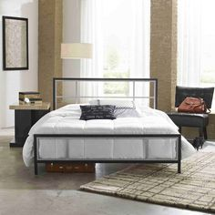 Arlington Metal Platform Bed Frame - Eco Dream. Image 2 of 2.