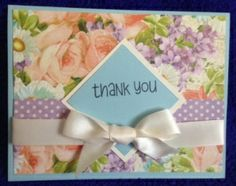 """Thank You card made with """"Perfect Petals"""" by Graphic 45. Gorgeous paper!"""