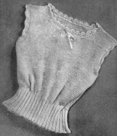 vintage knitting pattern for ladies spencer or vest