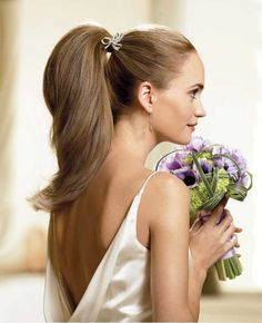 Wedding hairstyle - high ponytail :: one1lady.com :: #hair #hairs #hairstyle #hairstyles