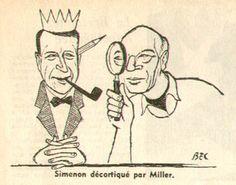 Simenon ed Henry Miller. Il secondo grande ammiratore del primo, amici, ecco una lettera in cui lo scrittore  americano si dichiara un appasssionato di Simenon