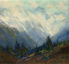 Charles Partridge Adams, After the Autumn Snows, Mtns Near Trout Lake, Colo. Near Telluride.  Denver Art Museum